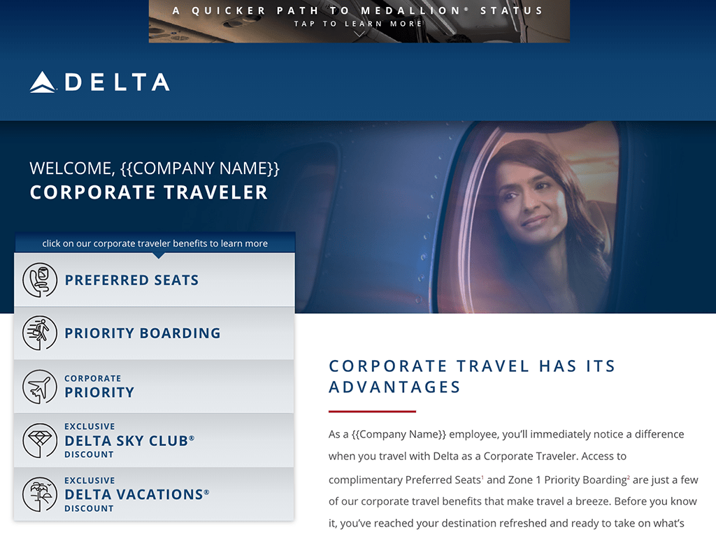 Delta Corporate Traveler - Phablet / Large screen