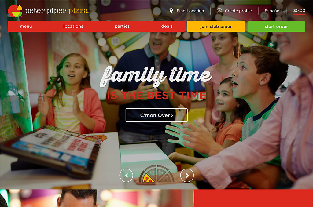 Peter Piper Pizza - Phablet / Large screen